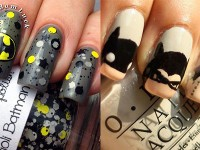 Very Easy Step By Batman Nail Art Tutorials For Beginners Learners 2016 Fabulous Designs