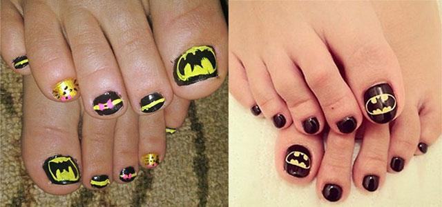 Amazing Batman Toe Nail Art Designs Ideas Stickers