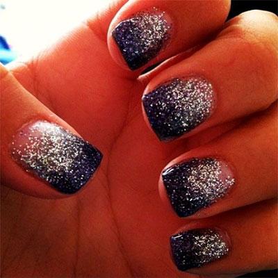 15 Glitter Gel Nail Art Designs Ideas Trends