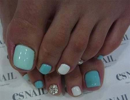 20 Easy Simple Toe Nail Art Designs Ideas