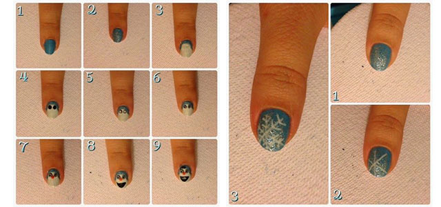 Easy Disney Frozen Inspired Nail Art Tutorials For Beginners Learners 2017 Fabulous Designs