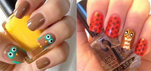 15 Cute Owl Nail Art Designs Ideas Trends