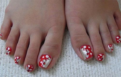 New Toe Nail Art Designs For Eid