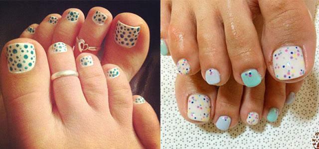 Prev Next Easy Beautiful Flower Dots Motif Black Toe Nail Art Design