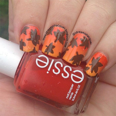 55 Seasonal Fall Nail Art Designs And Design