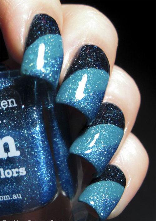 Blue Nail Art 1