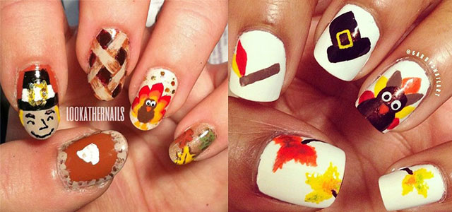 12 Easy Cute Thanksgiving Nail Art Designs Ideas Trends Stickers 2017 Fabulous