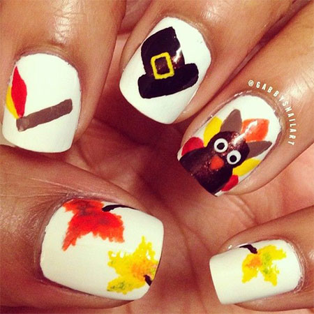 15 Thanksgiving Nail Art Designs Ideas Trends Stickers