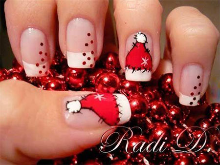 20 Easy Simple Christmas Nail Art Designs Ideas Stickers