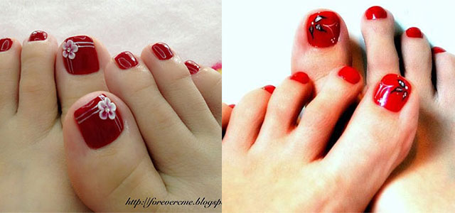 10 Red Toe Nail Art Designs Ideas Trends Amp Stickers 2014