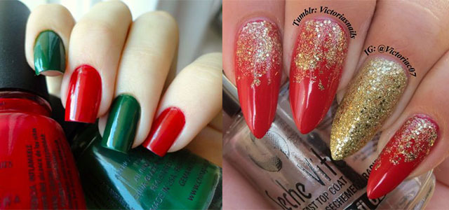 15 Red Green Gold Christmas Nail Art Designs Ideas Trends Stickers 2017 Xmas Nails Fabulous