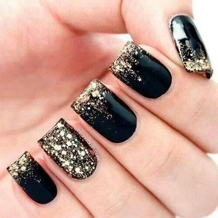 12 Winter Black Nail Art Designs Ideas Trends