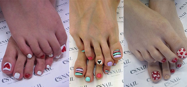 12 Valentine S Day Toe Nail Art Designs Ideas Trends Stickers 2017 Fabulous