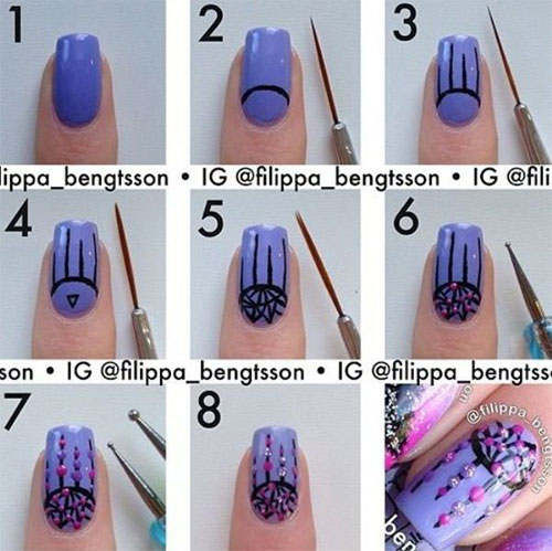 View Images Easy Step By Valentine S Day Nail Art Tutorials