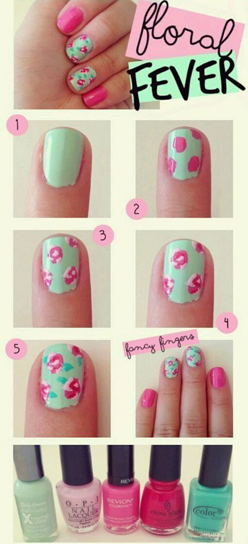 Easy Step By Spring Nail Art Tutorials