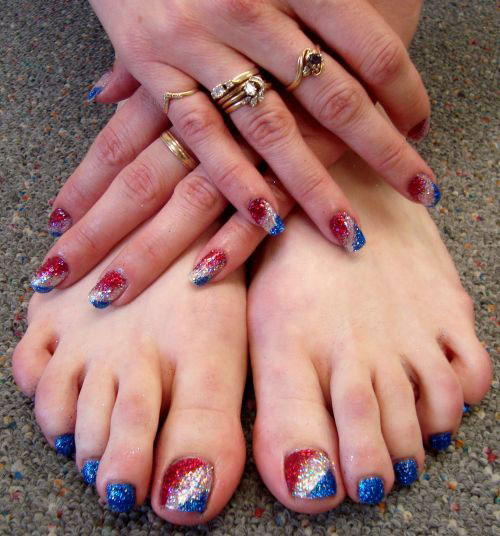 10 Cute Fourth Of July Toe Nail Art