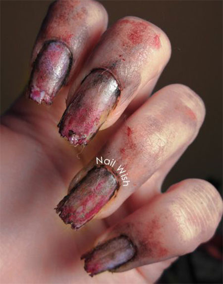Nail Art Zombie Nails Pointless Cafe View Images