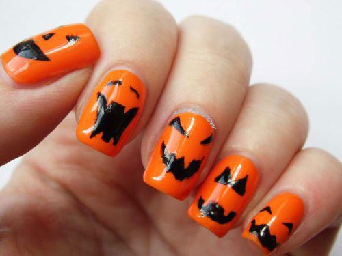 20 Halloween Pumpkin Nail Art Designs Ideas Trends Amp Stickers 2015 Fabulous Nail Art Designs