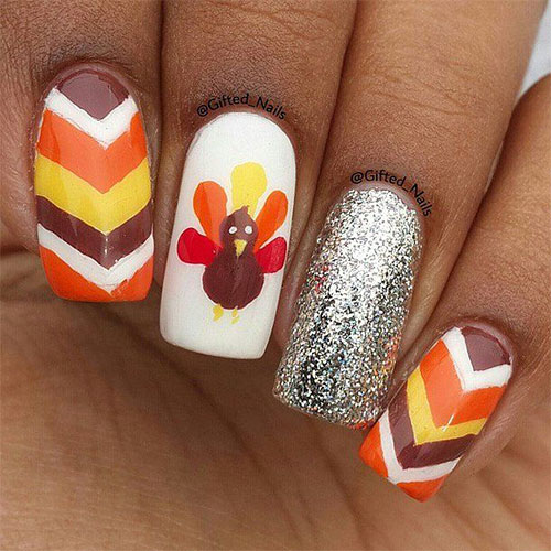 Simple Step By Thanksgiving Nail Art Tutorials