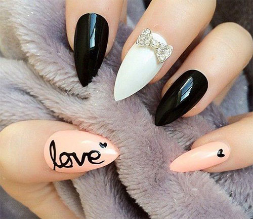 12 Cute I Love You Valentines Day Nail