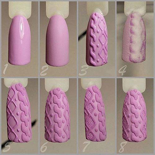 Radiant Nail Art Stencil Steps By Sticky Nails