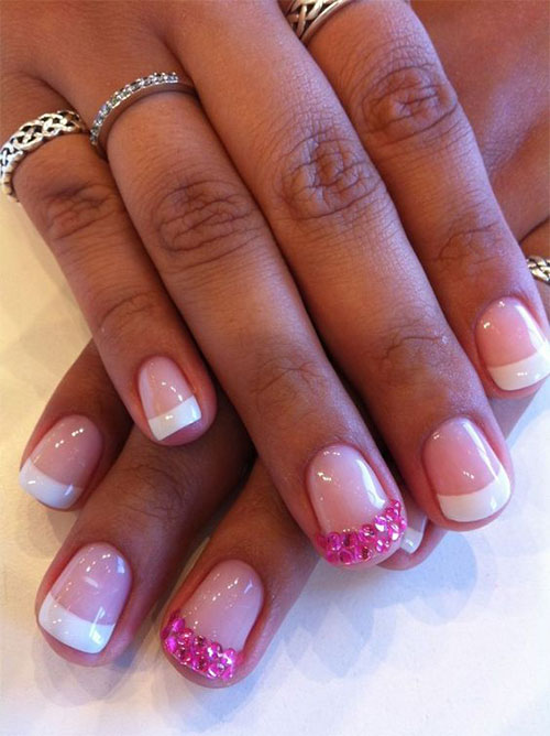 Cute French Tip Gel Nail Designs Easy
