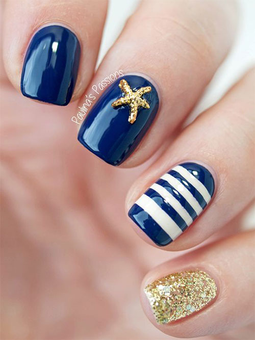 10 Summer Blue Nail Art Designs Amp Ideas 2016 Fabulous