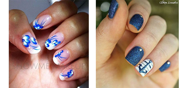 10 Summer Blue Nail Art Designs Ideas 2017