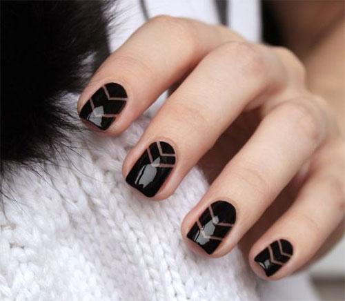 15 Black Gel Nail Art Designs Ideas 2017