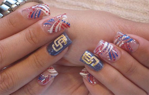 15 4th Of July Acrylic Nail Art Designs