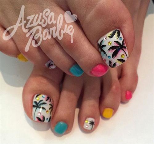 Summer Toe Nail Art Design And Ideas 2017