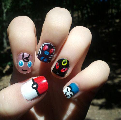20 Cute Easy Pokemon Go Themed Nails Art