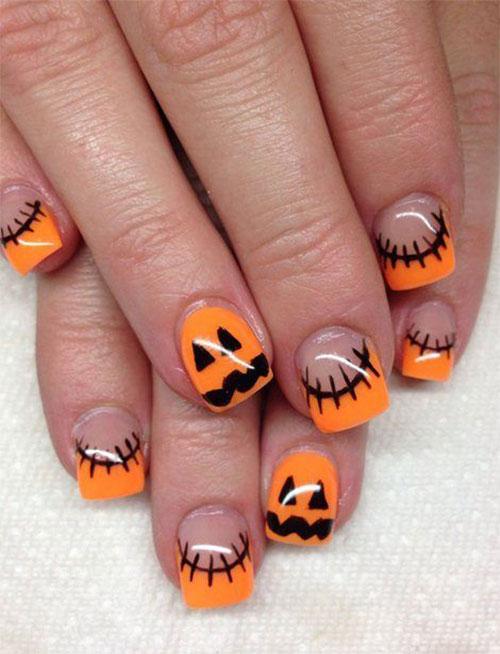Fall Halloween Acrylic Nails