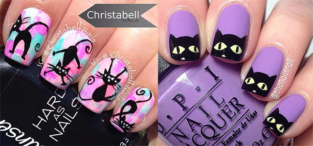 15 Cat Nail Art Designs Ideas 2017