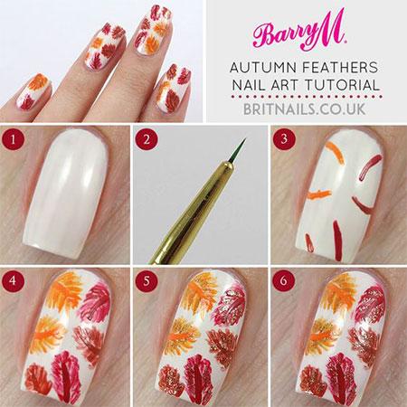 Easy Simple Autumn Nail Art Tutorials For Beginners