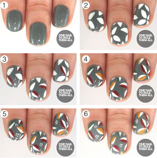 Step By Thanksgiving Nail Art Tutorials For