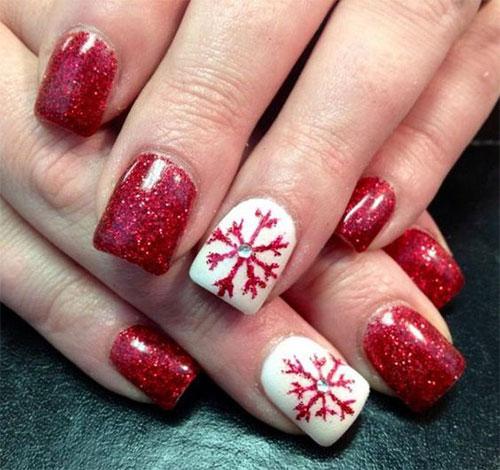 15 Christmas Glitter Acrylic Nail Art Designs 2017 Xmas Nails