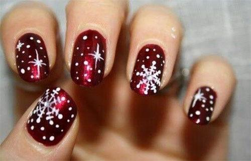 20 Cute Simple Easy Winter Nail Art Designs Ideas 2016 Christmas Photo