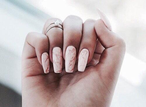 20 White Marble Nails Art Designs Ideas 2017