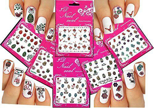 10 Easter Nail Art Stickers Decals 2017 2