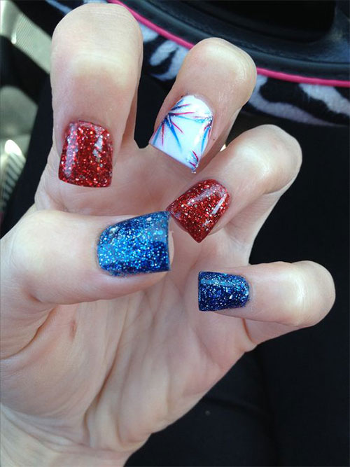 12 Awesome 4th Of July Acrylic Nail Art