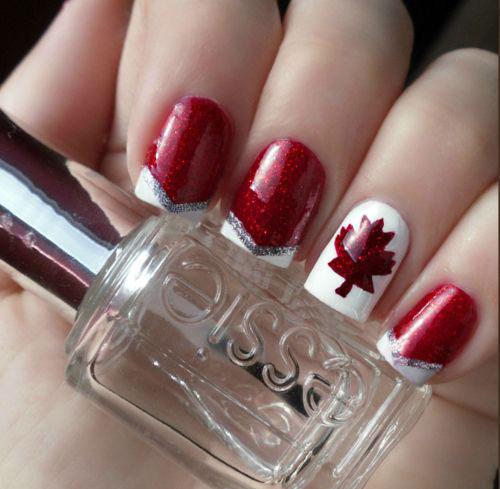 12 Easy Canada Day Nails Art Designs Ideas