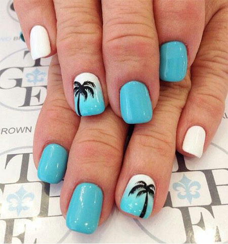15 Simple Easy Summer Nails Art Designs Ideas