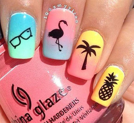 15 Simple Easy Summer Nails Art Designs Ideas