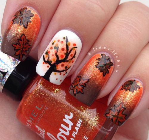 15 Autumn Leaf Nail Art Designs Ideas 2017 Fall Nails