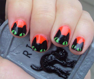 15 Black White Red Nails Art Designs