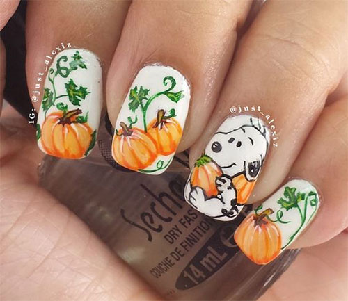 18 Easy Halloween Pumpkin Nails Art Designs Amp Ideas 2017