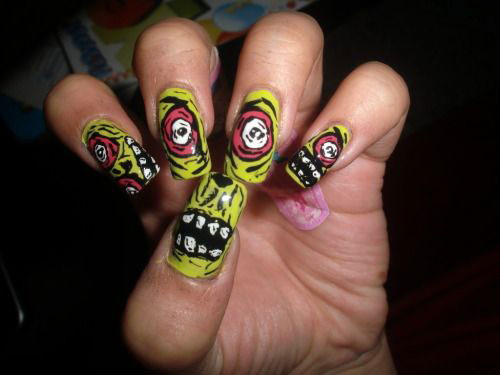 18 Halloween Zombie Nails Art Designs Amp Ideas 2017