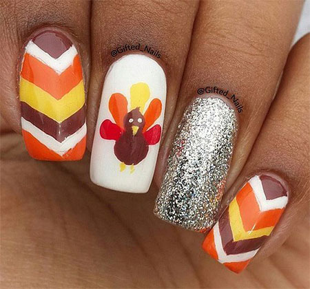 15 Easy Thanksgiving Nail Art Designs Ideas 2017