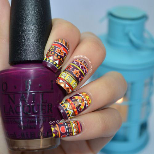 20 Happy Thanksgiving Nails Art Designs Ideas 2017